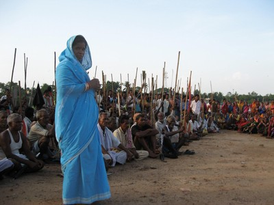 Orissa woman with protestors